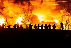 December 17, 2018 - Wroclaw, Poland - An illegal garbage dump catches fire. (Credit Image: © Krzysztof Kaniewski/ZUMA Wire)