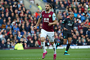 Burnley forward Jay Rodriguez (19) during the Premier League match between Burnley and Liverpool at Turf Moor, Burnley, England on 31 August 2019.