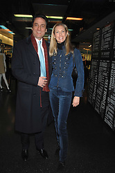 COUNT & COUNTESS ALLESANDRO GUERRINI-MARALDI  at a party to celebrate the launch of Holly Peterson's debut novel 'The manny' held at Selfridges, Oxford Street, London on 26th February 2007.<br />