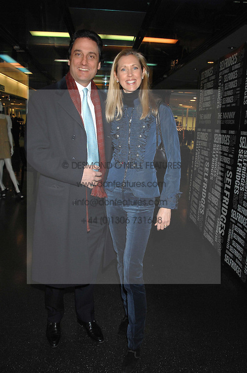 COUNT &amp; COUNTESS ALLESANDRO GUERRINI-MARALDI  at a party to celebrate the launch of Holly Peterson's debut novel 'The manny' held at Selfridges, Oxford Street, London on 26th February 2007.<br /><br />NON EXCLUSIVE - WORLD RIGHTS