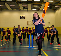 Minister Tries Hand At Cricket | Edinburgh | 24 January 2017
