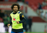 Marcelo of Brazil warms up before during the International Friendly match between England and Brazil at Wembley Stadium, London, England on 14 November 2017. Photo by Vince Mignott.