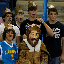 Mar 24, 2010; New Orleans, LA, USA; Cleveland Cavaliers fans cheer from the stands during pre game before a game against the New Orleans Hornets at the New Orleans Arena. Mandatory Credit: Derick E. Hingle-US PRESSWIRE