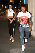 19.MAY.2013. LIVERPOOL<br /> <br /> RAHEEM STERLING AND GIRLFRIEND SHANA ANNE ROSE HALLIDAY LEAVING SAN CARLO RESTAURANT IN LIVERPOOL THE NIGHT BEFORE HE IS DUE IN COURT ON AN ASSULT CHARGE.<br /> <br /> BYLINE: EDBIMAGEARCHIVE.CO.UK<br /> <br /> *THIS IMAGE IS STRICTLY FOR UK NEWSPAPERS AND MAGAZINES ONLY*<br /> *FOR WORLD WIDE SALES AND WEB USE PLEASE CONTACT EDBIMAGEARCHIVE - 0208 954 5968*