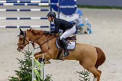 AUBERSON Flavien (SUI), Daniel III<br /> Genf - CHI Geneve Rolex Grand Slam 2019<br /> Prix des Communes Genevoises<br /> 2-Phasen-Springen<br /> International Jumping Competition 1m50<br /> Two Phases: A + A, Both Phases Against the Clock<br /> 13. Dezember 2019<br /> © www.sportfotos-lafrentz.de/Stefan Lafrentz