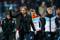 Wycombe Wanderers Manager Gareth Ainsworth looks positive as he leaves the pitch at half time with the score 0-0 - Mandatory byline: Rogan Thomson/JMP - 19/01/2016 - FOOTBALL - Villa Park Stadium - Birmingham, England - Aston Villa v Wycombe Wanderers - FA Cup Third Round Replay.