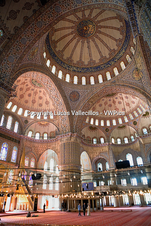 Mosque Sultan Ahmet, Blue Mosque. Istanbul. Turkey