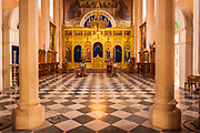 The altar in the Church of the Holy Annunciation, Dubrovnik, Dalmatian Coast, Croatia