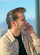 Rockabilly on his cell phone. Viva Las Vegas weekend. 2005