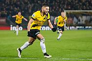 BREDA, NAC Breda - Go Ahead Eagles 1-0, voetbal Eredivisie seizoen 2014-2015, 14-03-2015, Rat Verlegh Stadion, NAC Breda speler Adnane Tignadouini (M) heeft de 1-0 gescoord.