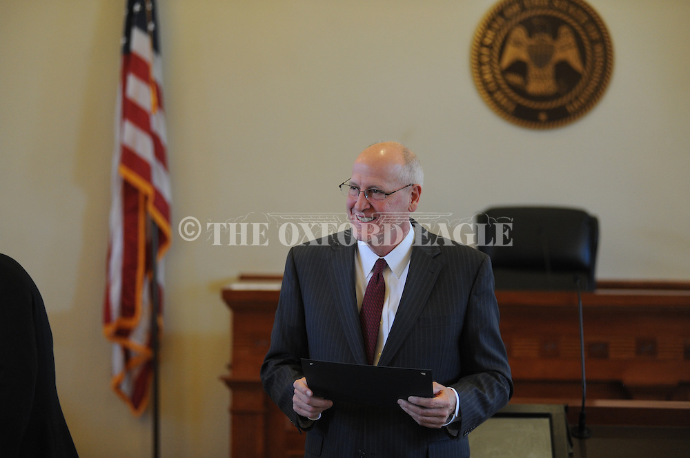 Circuit Judge Andy Howorth speaks at Drug Court graduation at the Lafayette County Courthouse in Oxford, Miss. on Tuesday, February 10, 2015.
