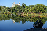 Turtle Pond in Central Park with a view of the Beresford apartment building