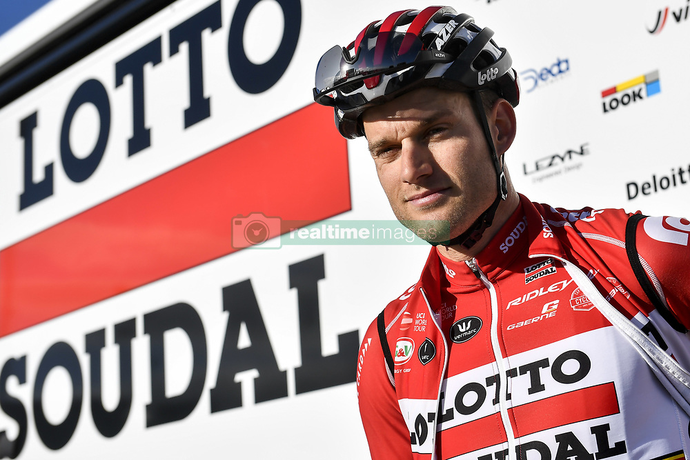 December 15, 2017 - Majorca, SPAIN - Belgian Nikolas Maes of Lotto Soudal pictured in action during a press day during Lotto-Soudal cycling team stage in Mallorca, Spain, ahead of the new cycling season, Friday 15 December 2017. BELGA PHOTO DIRK WAEM (Credit Image: © Dirk Waem/Belga via ZUMA Press)