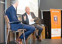 ZEIST - NGF themadag 2016.  gastsprekers Ole Skarin (Zweedse Golf Federatie) met Erik Lenselink (NOC*NSF) .  Copyright KOEN SUYK