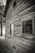 Log cabin at the Ehrman Mansion, Sugar Pine Point State Park, Lake Tahoe, California