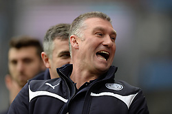 Leicester City Manager, Nigel Pearson laughs. - Photo mandatory by-line: Alex James/JMP - Mobile: 07966 386802 - 15/02/2015 - SPORT - Football - Birmingham - Villa Park - Aston Villa v Leicester City - FA Cup - Fifth Round