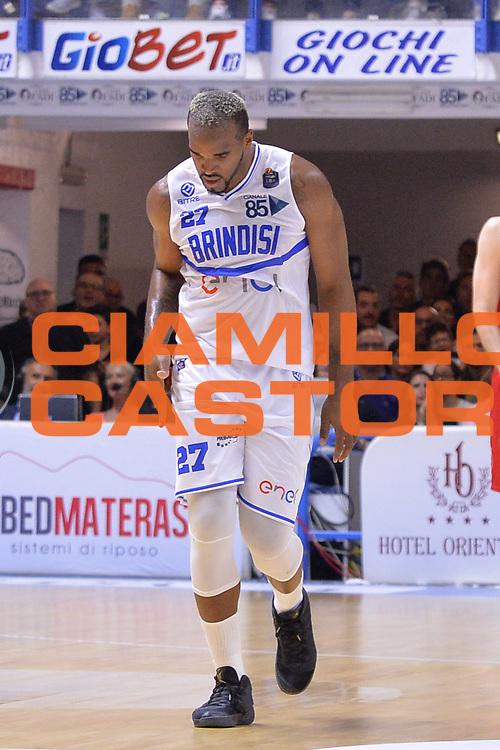 Samuels Samardo<br /> Enel Brindisi - EA7 Emporio Armani Milano<br /> BASKET Serie A 2016-2017<br /> Brindisi 15/04/2017<br /> FOTO CIAMILLO / M.Longo