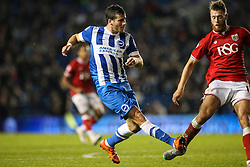 Brighton's Tomer Hemed shoots - Mandatory byline: Jason Brown/JMP - 07966 386802 - 20/10/2015 - FOOTBALL - American Express Community Stadium - Brighton,  England - Brighton & Hove Albion v Bristol City - Championship