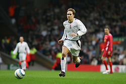 LIVERPOOL, ENGLAND - SUNDAY MARCH 27th 2005: Celebrity XI's Marcus Patrick during the Tsunami Soccer Aid match at Anfield. (Pic by David Rawcliffe/Propaganda)