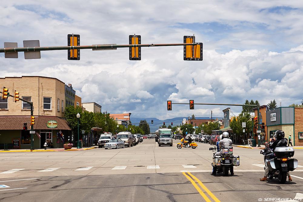 Tomochi Street in downtown Gunnison, Colorado.
