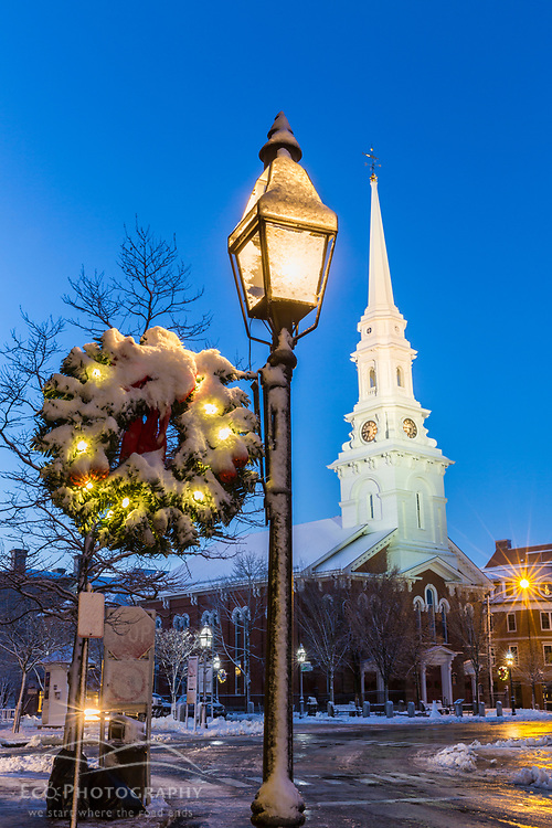 Christmastime in Market Square - Portsmouth, New Hampshire.