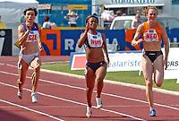 Friidrett<br /> Europacup kvinner<br /> 23.06.2007<br /> Foto: Hasse Sjøgren, Digitalsport<br /> <br /> Ezinne Okaparebo i aksjon på 100 meter