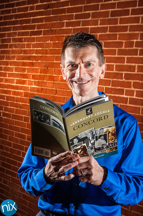 "Concord historian Michael Eury and his new book ""Legendary Locals of Concord."""