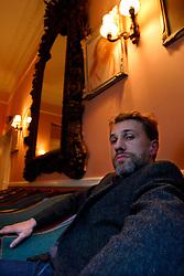 UK ENGLAND LONDON 21JAN04 - Austrian actor Christop Waltz in London's Polish Club in Kensington. ....jre/Photo by Jiri Rezac....© Jiri Rezac 2003....Contact: +44 (0) 7050 110 417..Mobile:  +44 (0) 7801 337 683..Office:  +44 (0) 20 8968 9635....Email:   jiri@jirirezac.com..Web:    www.jirirezac.com..