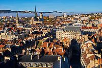 France, Côte-d'Or (21), Paysage culturel des climats de Bourgogne classés Patrimoine Mondial de l'UNESCO, Dijon, la ville vue depuis la tour Philippe le Bon // France, Burgundy, Côte-d'Or, Dijon, Unesco world heritage site, cityscape