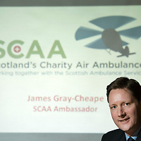 James Gray-Cheape who has been appointed as the first 'SCAA Ambassador' to Scotland's Charity Air Ambulance...<br /> Picture by Graeme Hart.<br /> Copyright Perthshire Picture Agency<br /> Tel: 01738 623350  Mobile: 07990 594431