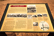 Interpretive sign, Grafton ghost town, Utah USA