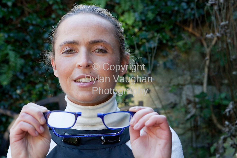 2/1/2009.Bairbre  Lonergan pictured with the Clic glasses at her home in Kilkenny..Picture Dylan Vaughan.