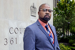 October 2, 2018 - Toronto, ON, Canada - TORONTO, ON - OCTOBER 2  - O'Neil Blackett poses outside University Avenue court, October 2, 2018. Blackett was exonerated this morning in the latest wrongful conviction case involving disgraced Sick Kids pathologist Charles Smith.  Andrew Francis Wallace/Toronto Star (Credit Image: © Andrew Francis Wallace/The Toronto Star via ZUMA Wire)