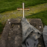 The tomb of Julia Devaney in Tuam Cemetery, Tuam. Julia Devaney is unique in that she left a record of her almost 40 years in the Tuam Mother and Baby Home. From entering the home as a child in about 1923, to leaving it as an employee when it closed its doors for the last time on September 16, 1961, she had an insight into every aspect of the place.