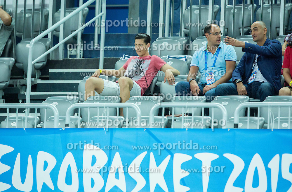 Petar Naumoski of Macedonia (R)during basketball match between Slovenia and Georgia at Day 2 in Group C of FIBA Europe Eurobasket 2015, on September 6, 2015, in Arena Zagreb, Croatia. Photo by Vid Ponikvar / Sportida