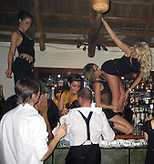 **EXCLUSIVE**.Giuseppe Cipriani putting 20 Dollar bills on his waitresses panties while they dance on top of the bar..Cipriani Downtown Restaurant..New York, NY, USA..Sunday, April, 29, 2007..Photo By Celebrityvibe.com .Website: www.celebrityvibe.com;.To license this image please call (212) 410 5354 or email: Celebrityvibe@gmail.com
