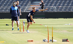 England's Sam Curran during the nets session at the Bristol County Ground.