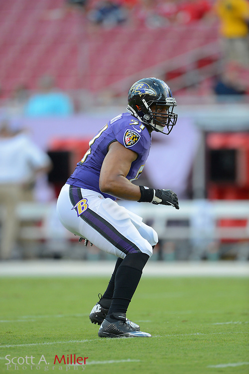 Baltimore Ravens outside linebacker Daryl Smith (51) during a preseason NFL game at Raymond James Stadium on Aug. 8, 2013 in Tampa, Florida. <br /> <br /> &copy;2013 Scott A. Miller