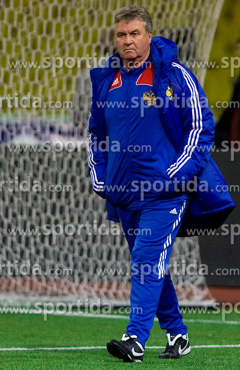 Head coach Guus Hiddink at practice of Russian team a day before FIFA World Cup 2010 Qualifying match between Russia and Slovenia, on November 13, 2009, in Stadium Luzhniki, Moscow, Russia.  (Photo by Vid Ponikvar / Sportida)