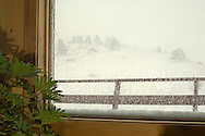 View from window during Montana winter storm <br /> PROPERTY RELEASED
