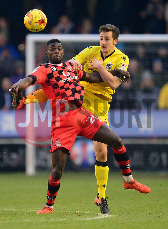 Tom Lockyer of Bristol Rovers battles for the ball with Amadou Bakayoko of Walsall - Mandatory by-line: Alex James/JMP - 21/01/2017 - FOOTBALL - Banks's Stadium - Walsall, England - Walsall v Bristol Rovers - Sky Bet League One