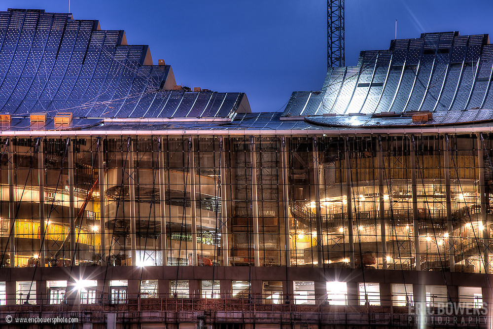 Kauffman Center Construction in late 2010