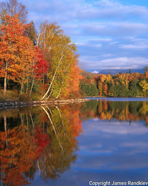 autumn reflections on Franklin Pond, Adirondack Mts., NY
