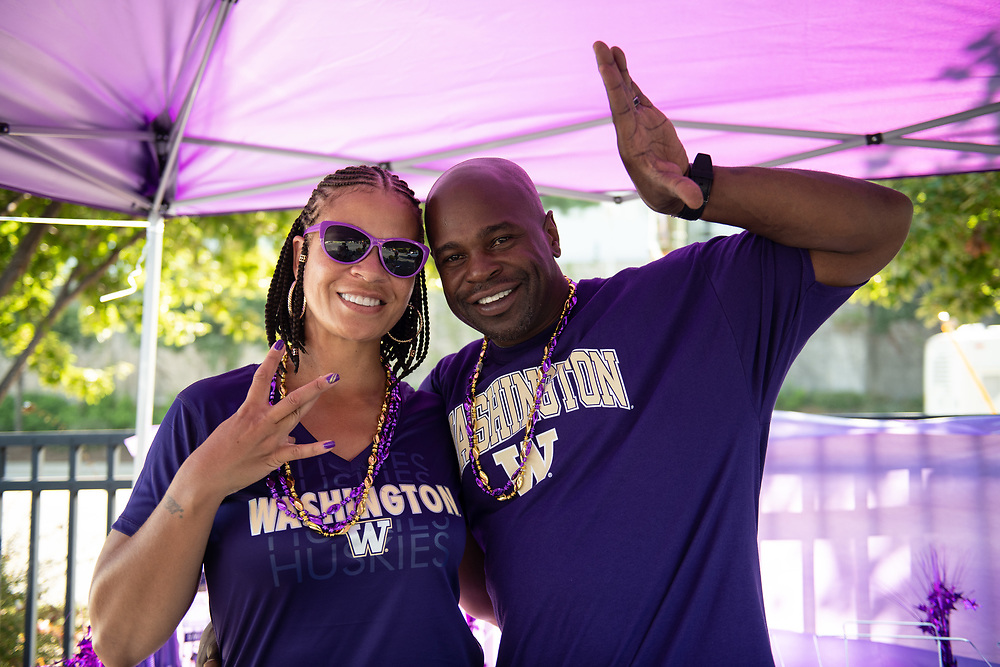 Washington fans prior to the Chick-fil-A Kickoff Game at  the Mercedes-Benz Stadium, Saturday, September 1, 2018, in Atlanta. (AJ Reynolds via Abell Images for Chick-fil-A Kickoff)
