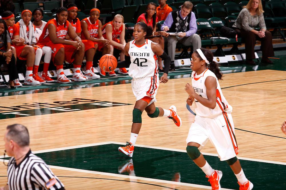 2012 Miami Hurricanes Women's Basketball vs Clemson