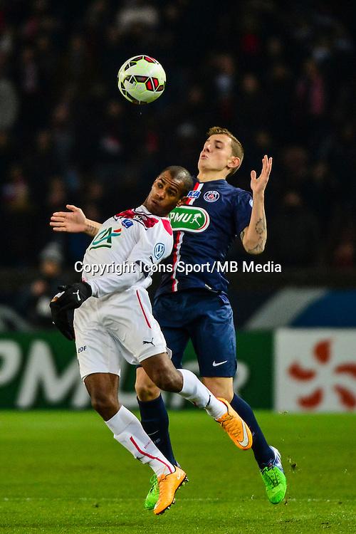 Diego ROLAN / Lucas DIGNE - 21.01.2015 - Paris Saint Germain / Bordeaux - Coupe de France<br /> Photo : Dave Winter / Icon Sport