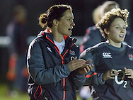 Jo Yapp during the warm up, Army Women v U20 England Women at the Army Rugby Stadium, Aldershot, England, on 16th February 2017. Final score 15-38.