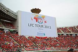 BANGKOK, THAILAND - Sunday, July 28, 2013: Liverpool take on Thailand XI during a preseason friendly match at the Rajamangala National Stadium. (Pic by David Rawcliffe/Propaganda)