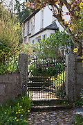 Quaint cottage called Chapel End in Helston overlooking the Helford Estuary, Cornwall, England, UK