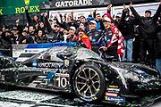 January 24-27, 2019. IMSA Weathertech Series ROLEX Daytona 24. #10 Konica Minolta Cadillac DPi-V.R. Cadillac DPi, DPi: Renger Van Der Zande, Jordan Taylor, Fernando Alonso, Kamui Kobayashi